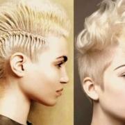Эффектные и смелые прически ирокез для любой длины волос