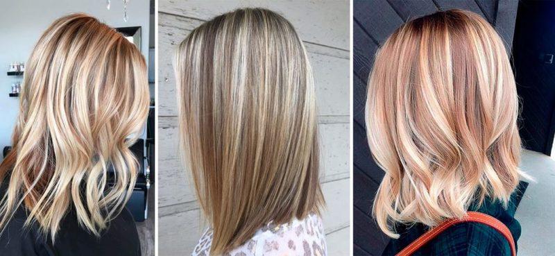 осветление волос прядями