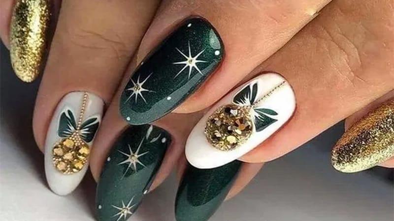 Стильные рождественские и новогодние дизайны ногтей, от которых вы придете в восторг