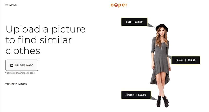 как продавать одежду / обувь с помощью технологии Oyper?
