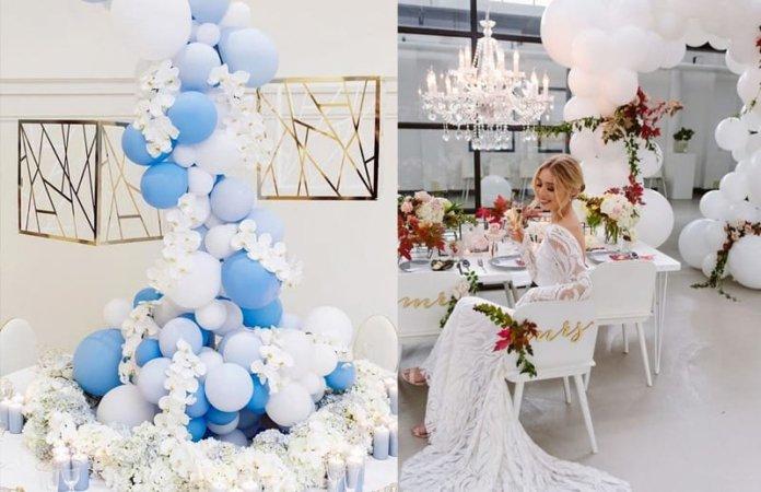 Трендовый свадебный декор 2020 - воздушные шары
